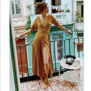 Faithfull the Brand Dresses - Chiara Dot Print Wrap Dress